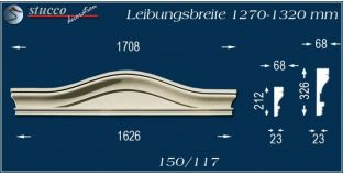 Fassadenelement Bogengiebel Halle 150/117 1270-1320