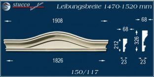 Fassadenelement Bogengiebel Kiel 150/117 1470-1520
