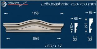 Fassadenelement Bogengiebel Leipheim 150/117 720-770