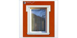 17. Fassaden Idee für Fensterumrandung / Türumrandung mit Fassadenstuck