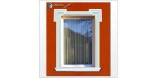 22. Fassaden Idee: Fassadengestaltung mit Fensterumrandung / Türumrandung