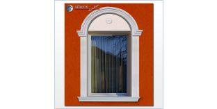 96. Fassaden Idee: flexible Stuckleisten für Fensterverzierung / Türverzierung