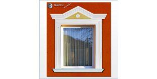 113. Fassaden Idee mit Stuckrosette für Fensterumrandung / Türumrandung