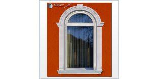 100. Fassaden Idee: flexible Stuckleisten zur Fassadenstuck Fensterumrandung / Türumrandung