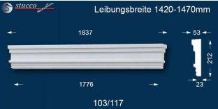 Fassadenstuck Tympanon gerade Rüsselsheim 103/117 1420-1470