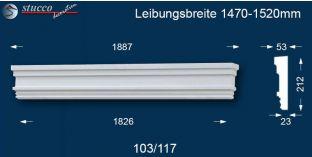 Fassadenstuck Tympanon gerade Tübingen 103/117 1470-1520