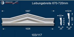Fassadenstuck Dreieckbekrönung Berlin 103/117 670-720