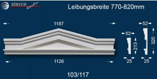 Stuck Fassade Dreieckbekrönung Berlin 103/117 770-820