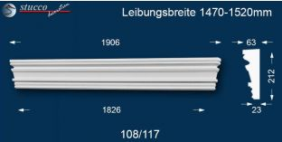 Fassadenstuck Tympanon gerade Mecklenburg 108/117 1470-1520