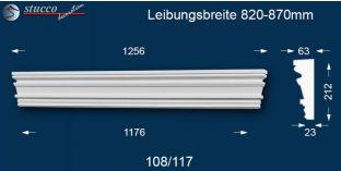 Fassadenelement Tympanon gerade Wolfsburg 108/117 820-870