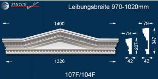 Fassadenelementen Dreieckbekrönung Leipzig 107F/104F 970-1020