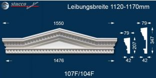 Fassadenstuck Dreieckbekrönung Leipzig 107F/104F 1120-1170