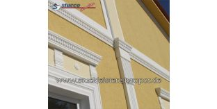 120. Fassaden Idee: Fassadenprofile als Gurtgesims / Pilaster