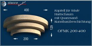 Kapitell-Hälfte für Säule mit Beschichtung OFMK 200/400