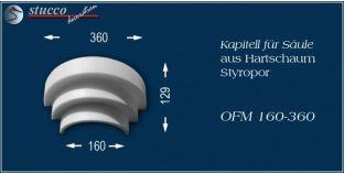 Kapitell für Säule aus Hartschaum Styropor OFM 160/360