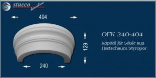 Kapitell für Säule aus Hartschaum Styropor OFK 240/404