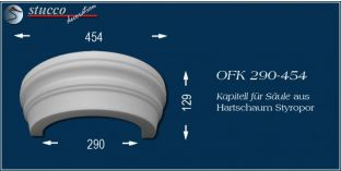 Kapitell für Säule aus Hartschaum Styropor OFK 290/454