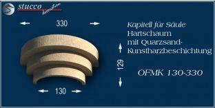 Kapitell-Hälfte für Säule mit Beschichtung OFMK 130/330