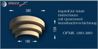 Kapitell-Hälfte für Säule mit Beschichtung OFMK 180/380