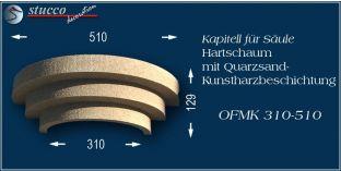 Kapitell für Säule mit Beschichtung OFMK 310/510