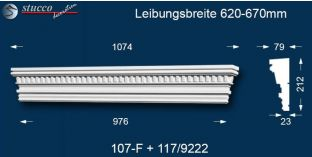 Stuck Fassade Tympanon gerade Bayern 107F/117 620-670