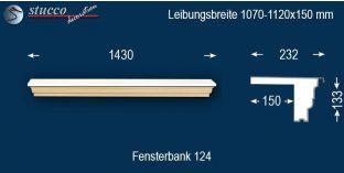 Komplette Fensterbank Krefeld 124 1070-1120-150
