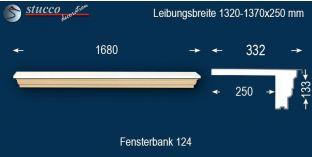 Komplette Fensterbank Freystadt 124 1320-1370-250