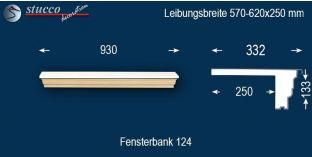 Komplette Fensterbank Hessen 124 570-620-250