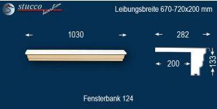 Komplette Fensterbank Stuttgart 124 670-720-200