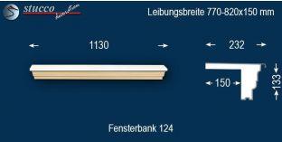 Komplette Fensterbank Dortmund 124 770-820-150