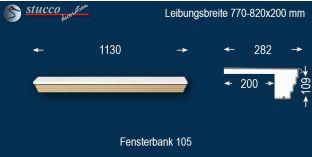 Komplette Fensterbank Niedenstein 105 770-820-200