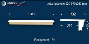 Komplette Fensterbank Hagen 124 920-970-250
