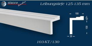 L-Profil für Laibung und Faschen Bangkok 103-KT 125-135 mm