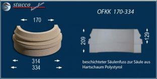 Säulenbasis mit Beschichtung OFKK 170/334