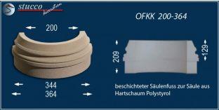 Säulenbasis mit Beschichtung OFKK 200/364