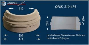 Säulenbasis mit Beschichtung OFKK 310/474