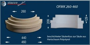 Säulenfuß mit Beschichtung  OFMK 260/460