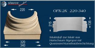 Säulenfuss mit Beschichtung OFK-2K 220/340