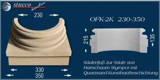 Säulenfuss mit Beschichtung OFK-2K 230/350