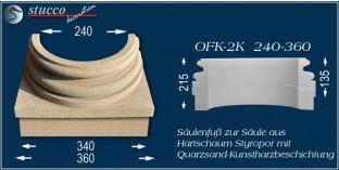 Säulenfuss mit Beschichtung OFK-2K 240/360