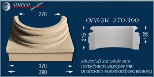 Säulenfuss mit Beschichtung OFK-2K 270/390