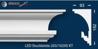 Stuckleisten für indirekte Beleuchtung Vorhangleiste Hamburg 203