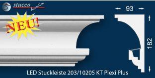Stuckleisten für indirekte Beleuchtung Vorhangleiste Hamburg 203 PLEXI PLUS