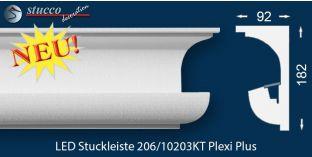 Stuckleisten für indirekte Beleuchtung Vorhangleiste Nürnberg 206 PLEXI PLUS
