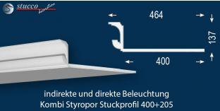 LED Lichtleiste für direkte und indirekte Deckenbeleuchtung München 400+205