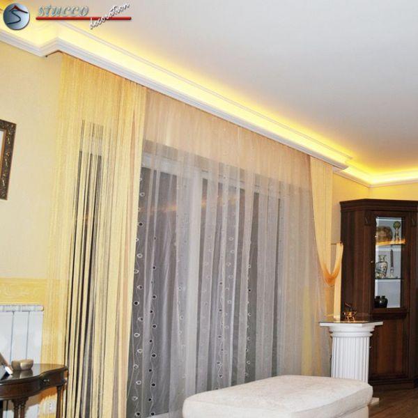1 wohnidee stuckleisten f r indirekte beleuchtung. Black Bedroom Furniture Sets. Home Design Ideas