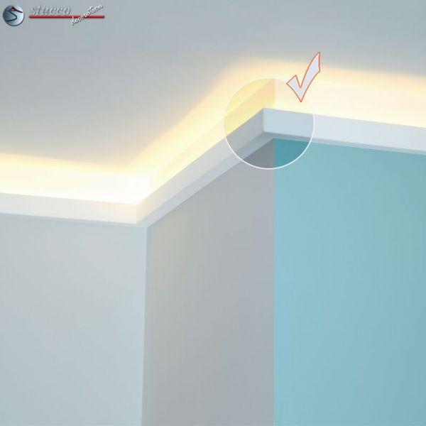 indirekte beleuchtung styropor leisten 214. Black Bedroom Furniture Sets. Home Design Ideas