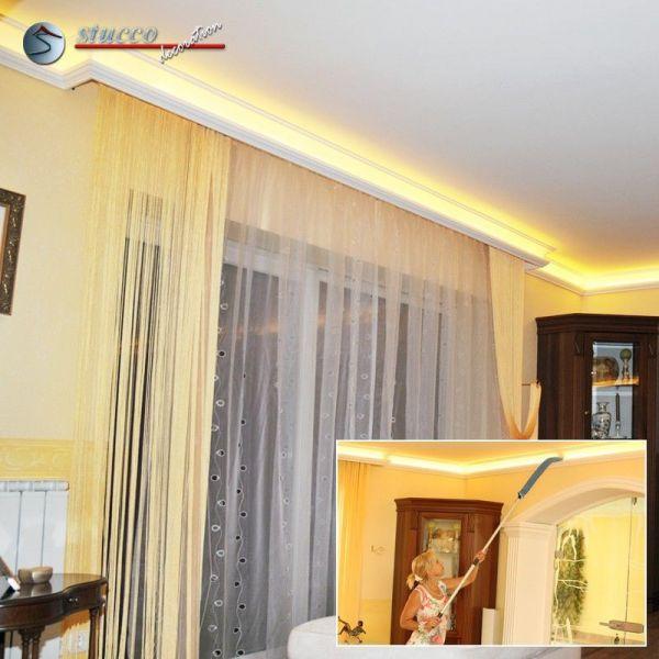 2 wohnidee stuckleisten f r indirekte beleuchtung an durchg ngen. Black Bedroom Furniture Sets. Home Design Ideas