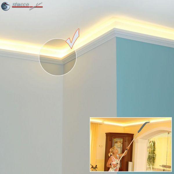 led stuckleiste f r indirekte beleuchtung berlin 201 plexi plus. Black Bedroom Furniture Sets. Home Design Ideas