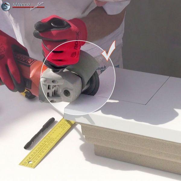 metalltrennscheibe zum winkelschleifer zum schneiden des aluminium blechs. Black Bedroom Furniture Sets. Home Design Ideas